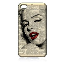 Marilyn Monroe Hard Case Cover Skin for Iphone 4 4s Iphone4 At&t Sprint Verizon Retail Packing