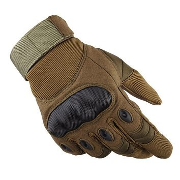 Outdoor Tactical Full Finger Sports Hiking Riding Cycling Military Men's Gloves
