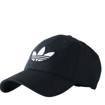 Adidas Originals Trefoil Cap Baseball Hat Adjustable Strapback - AJ8941 - Black