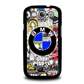 bmw sticker bomb samsung galaxy s3 case cover  number 2