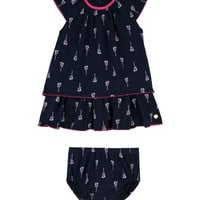 Regal Wanderlust Baby 2Pc Wanderlust Print Dress Set With Bloomers by Juicy Couture,