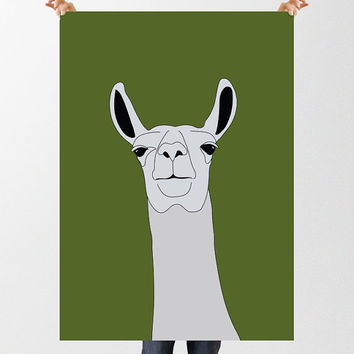 Llama Print, Printable Modern Nursery Wall Art, Llama Illustration, Llama Poster, Farm Animal Print, Instant Download, Alpaca Print,