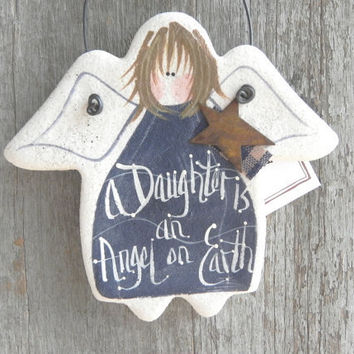 Daughter Salt Dough Angel Hanging Gift Ornament