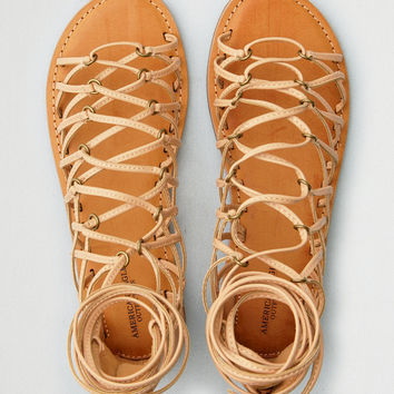 AEO Caged Gladiator Sandal, Natural