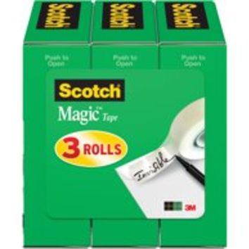 Scotch Magic Tape Refill 3 Pack, 1/2 in. x 1,296 in. per Roll, Clear, 3 Boxes per Pack - Walmart.com