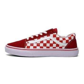 Vans Classic red white plaid Casual shoes