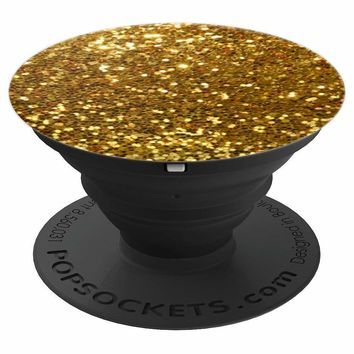 Gold Sparkle PopSocket Grip - PopSockets Grip and Stand for Phones and Tablets