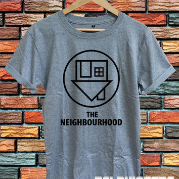 the neighbourhood shirt the nbhd logo tshirt t-shirt sport grey printed unisex size (DL-94)