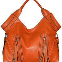 Orange Tassels Handbag