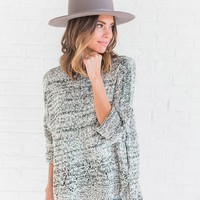 Heather Knit Sweater - cladandcloth