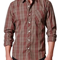Volcom Weirdoh Plaid Woven Shirt - Mens Shirts - Brown