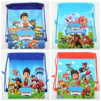 1pc 36*27cm Puppy Dog Gift Bag Non-Woven Fabric Drawstring Backpack Loot Bag Birthday Party Supplies Party Favors