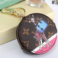 LV Louis Vuitton 2018 new coin purse coin bag keychain key ring car keychain F-MYJSY-BB #3