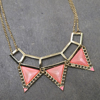Egyptian Style Necklace {Pink}