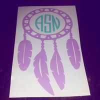 Monogram Dream Catcher Car Decal- two colored