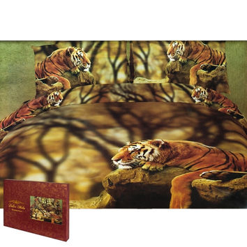 Lonely Tiger Queen Size Bedding Set