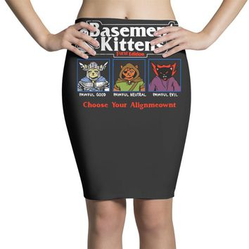 basements and kittens Pencil Skirts