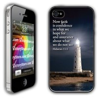 iPhone 4/4s Case - Christian Theme - Hebrews 11:1 - White Protective Hard Case