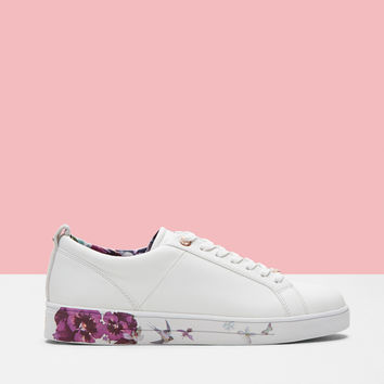 Printed sole trainers - White | Shoes | Ted Baker