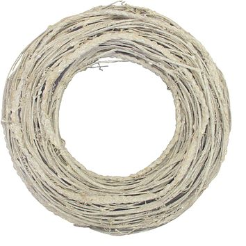 """12.5"""" Glittered White Twig Artificial Christmas Wreath - Unlit"""