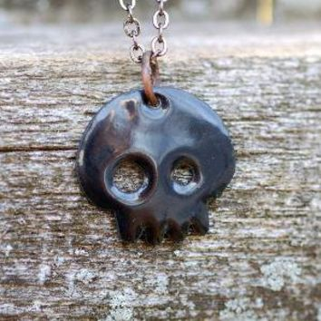 NEW Copper Enamel Baby Skull Pendant Necklace Baby by Venbead