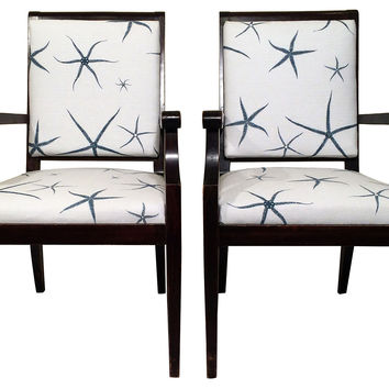 19th-C. Italian Armchairs,  Pair