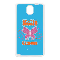 Sassy - Hello Gorgeous 10433 White Silicon Rubber Case for Galaxy Note 3 by Sassy Slang