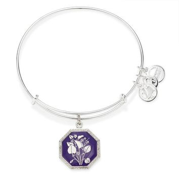 Alex and Ani Seduced by Innocence Violet Charm Bangle - Shiny Silve...