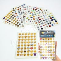 Emoji Sticker Pack 912 Emoji Stickers Most Popular Emojis For Mobile Phone Kids Rooms Home Decor Tablet 19 Sheets/Pack