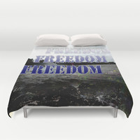 freedom,nature,sea,beach,peaceful, Duvet Cover by Ira Gora