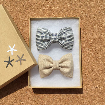Set of two bow ties boy toddler baby bow tie bow tie Seaside Sparrow bow tie boy Easter Wedding boy tie bow tie for boy bow tie bow tie boy