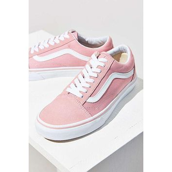 """Vans"" With Warm Casual Shoes Men and women Pink cloth shoes Pink F"