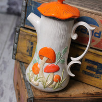 Vintage Mushroom Serving Pitcher