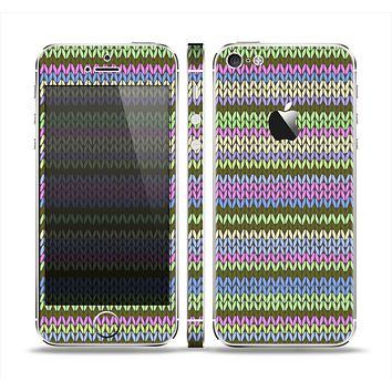 The Colorful Knit Pattern Skin Set for the Apple iPhone 5