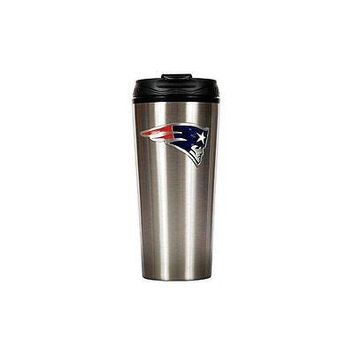 New England Patriots Primary Logo 16 oz Stainless Steel Travel Mug Tumbler Cup