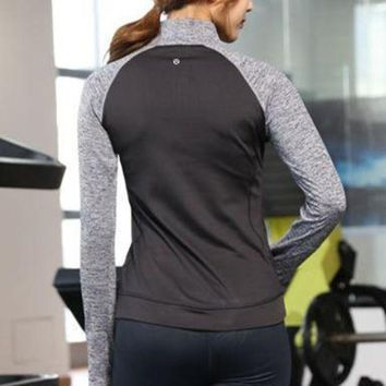 ONETOW Lululemon Women Fashion Gym Yoga Pullover Shirt Top Tee