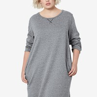 Long Sleeve French Terry Tunic Dress