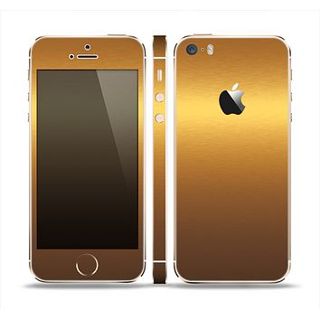 The Gold Shimmer Surface Skin Set for the Apple iPhone 5s