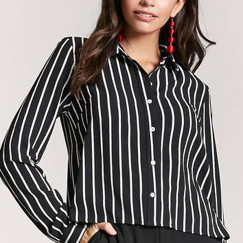 Semi-Sheer Pinstripe Shirt