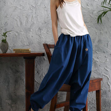 Boho Button Harem Pants