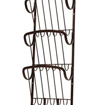 Spectrum Diversified Ashley 3Tier Letter Holder and Key Rack Wall Mount Satin Nickel