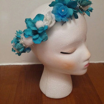 "The Snow Queen-Beautiful Handmade Flower Crown Inspired by Elsa from Disney's ""Frozen"""
