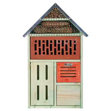 """22"""" Insect Hotel w/ Brick Front, Feeders, Houses & Bird Baths"""