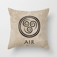 Avatar Last Airbender - Air Throw Pillow by briandublin | Society6