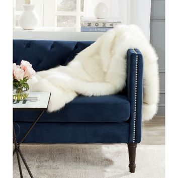 Safavieh Faux Shadow Fox Fur White Throw (50-inches x 60-inches) | Overstock.com Shopping - The Best Deals on Throws