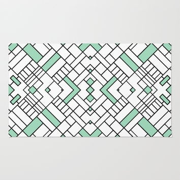 PS Grid 45 Mint Rug by Project M
