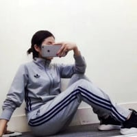"""Adidas""Print Top Sweater Pants Trousers Set  Two-piece Sportswear"
