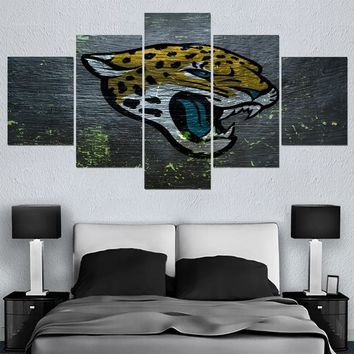 Animal Jacksonville Jaguars Canvas Painting Calligraphy Sport Ball Team Poster Wall Art Paintings Modern Home Decor Picture