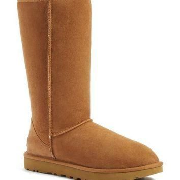 CREY1O UGG? 'Classic II' Genuine Shearling Lined Tall Boot (Women) | Nordstrom