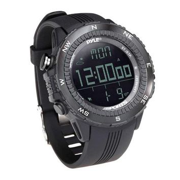 Digital Multifunction Active Sports Watch with Altimeter, Barometer, Chronograph, Compass, Count-Down Timer, Measuring & Weather Forecast Modes (Black)